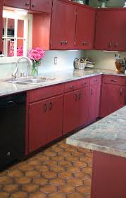 Kitchen Cabinets Painted Red Reloved Rubbish Primer Red Chalk Paintr Kitchen Cabinets