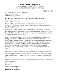 Sample Construction Cover Letters 20 Free Cover Letter Samples For Different Jobs And Careers