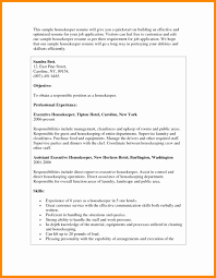 Sample Hotel Resume sample hotel housekeeping resume Akbagreenwco 53