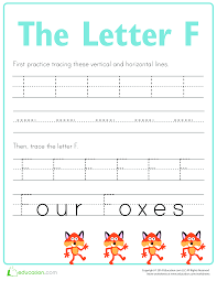 Letter F Templates Free Practice To Write Letter F Templates At Allbusinesstemplates Com