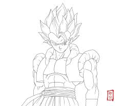 Small Picture Gogeta Coloring Pages Coloring Pages Online