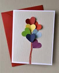diy greeting cards easy diy heart balloon greeting card heart balloons boyfriends free