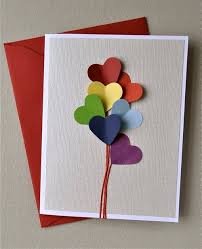 diy greeting cards easy diy heart balloon greeting card heart balloons boyfriends free