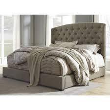 ashley furniture bedroom. ashley furniture gerlane queen upholstered bed in graphite bedroom