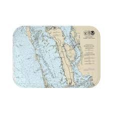 Pine Island Nautical Chart Bath Mat Chart Mugs