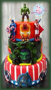 The Avengers Cake Cake By Sam Nels Taarten Super Hero Cakes