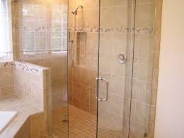 bathroom doorless shower ideas. Bathroom Cool Glass Sliding Doors Small White Toilets Ideas With Shower Cabinets Laminate Flo Brown Tile Doorless