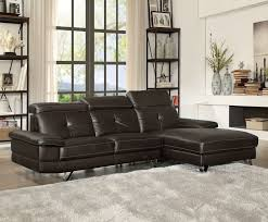 faux leather sectional. Acme 52045 Aeryn Espresso Faux Leather Sectional Sofa With Chaise