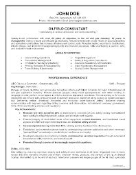 Oil Field 4 Resume Examples Sample Resume Resume Resume Examples