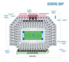 top result ford center frisco seating chart unique ford field seating map view large map