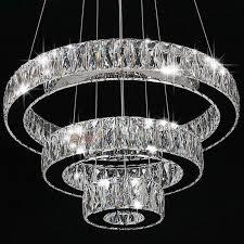 modern ceiling lights chandeliers modern crystal round ring led pendant lamp ceiling lights