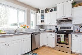 painting laminate kitchen cabinetsKitchen  Refinishing Kitchen Cabinets White Grey And White