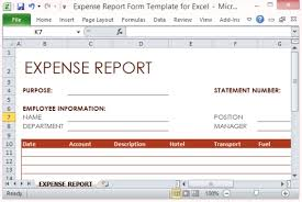 Expense Statement Template Expense Report Form Template For Excel