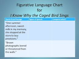 use excerpts found in secondary textbooks ppt video online figurative language chart for i know why the caged bird sings