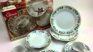 Gibson Housewares Fine Porcelain China - Christmas Charm Pattern ...