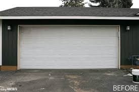paint a garage door do you have an old grimy garage door like this can you paint a metal garage door with a roller