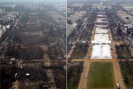 trump inauguration crowd size fox official photos released showing aerial images of obama and trump