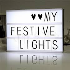a4 cinematic light box with letters cinema led table lamp sign message symbol board plaque home