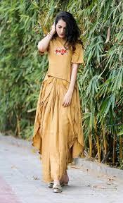 Ladies Lungi Designs Skc 231 Rayon Crop Top Style Kurti With Lungi Materail Rayon