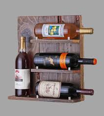 Reclaimed Wood Wine Cabinet Reclaimed Wood 4 Bottle Wine Rack Features Reclaimed Wood
