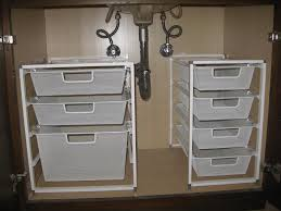gallery of clever bathroom cabinet organizers design white racks inside open storage cabinet in dramatic dull