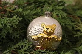 Christbaumschmuck Weihnachtskugel Teddy Bär Gold Silber Glas Weihnachten Deko