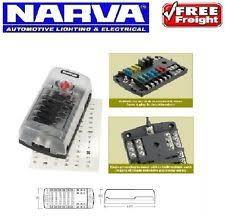 narva 8 way fuse box 12v 30 amp wiring fridge spotlight ebay 12v fuse box nz narva 12 way fuse block box holder ats blade caravan dual battery boat 12v 54450