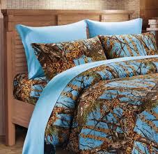 powder blue camo sheet set cal king size bedding 6 pc camouflage light sky