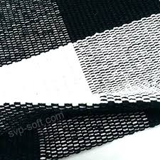 cotton rug hand woven checd carpet braided kitchen mat black and white flat weave rugs handwoven