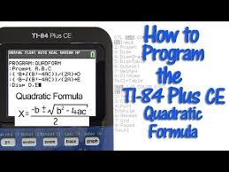 ti 84 plus ce with quadratic formula