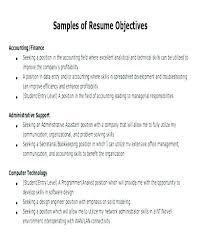 Sample Job Objectives Resume Yomm