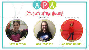 Students of the Month – February 2018 – Academy of Performing Arts