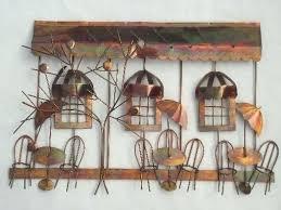 vintage metal wall art