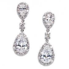 keirsten pear shape cubic zirconia statement earring
