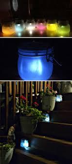 6 colored mason jar lanterns