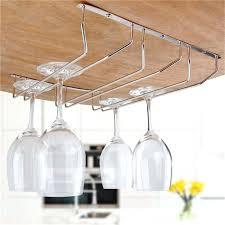 Metal wine glass rack Storage Wine Glass Rack Under Cabinet Wine Glass Rack Holder Under Cabinet Stemware Hanger Shelf Kitchen Metal Katebrightoninfo Wine Glass Rack Under Cabinet Zoemichelacom
