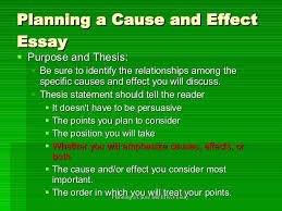 cause and effect essay 14 planning a cause and effect essay