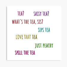 Tea Yes Please Tea Talk Funny Trendy Tea Quotes Good Vibes Chill Out Relax Tea Time Canvas Print