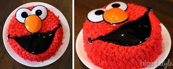 Entertaining With Style A Simple Elmo Cake Basic Cake Decorating