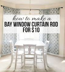 awesome window curtain of diy bay window curtain rod for less than 10 pic curtains on