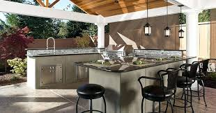 amazing metal lanterns with black leather stools for modern outdoor kitchen ideas stainless steel sink pictures modern outdoor kitchen
