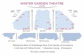 Rock Of Ages Theater Seating Chart Winter Garden Theatre Shubert Organization