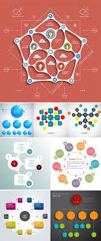 Creative Organization Chart Design Vectors Organization Chart With Round Elements Nitrogfx