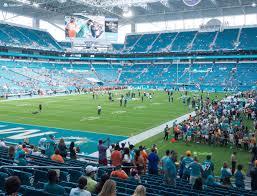 Miami Dolphins Stadium Seat View Miami Dolphins Football