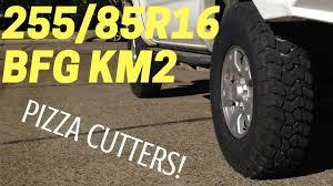 TOYOTA TACOMA with 255 85 R16 BFG KM2   Tall Skinny Mud Terrain ...