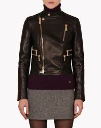 dsquared leather jacket women 42 year