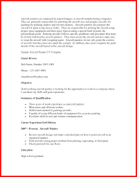 Painter Resume Objective Apa Example