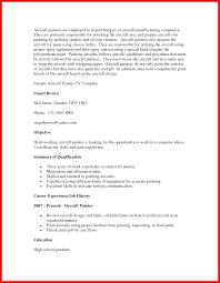 Journeyman Painter Sample Resume Painter Resume Objective Apa Example 12