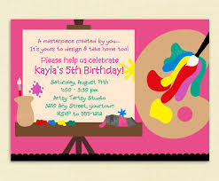 painting party invitation ideas 10 year old birthday party invitation wording birthday invites free