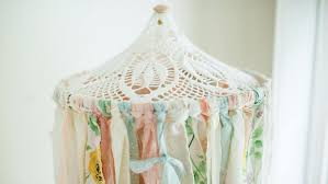 fabric for baby girl nursery where to chandelier mobile decor canopy uk